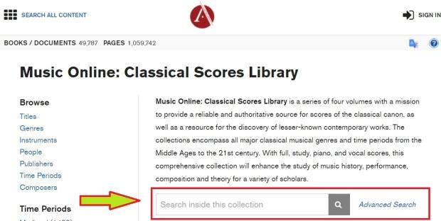 music online database